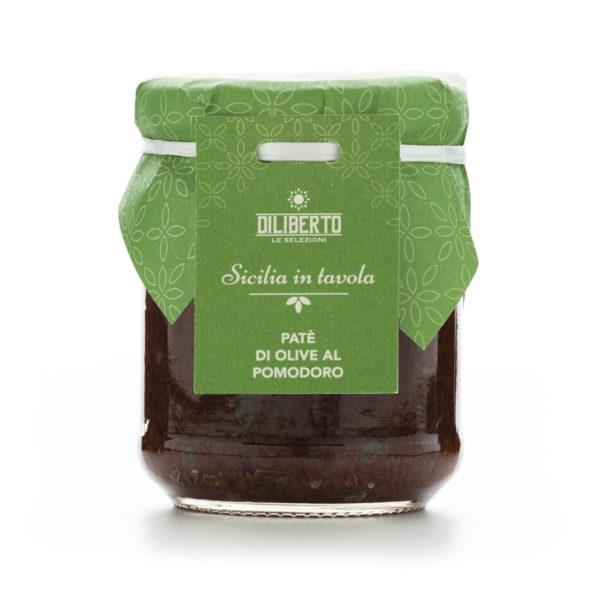 patè di olive al pomodoro olio diliberto