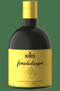una bottiglia di olio fiordidrupa biologico da 500 ml