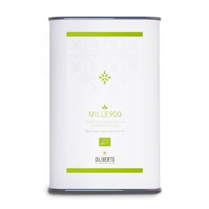 Una lattina di olio Mille900 biologico da 5 litri