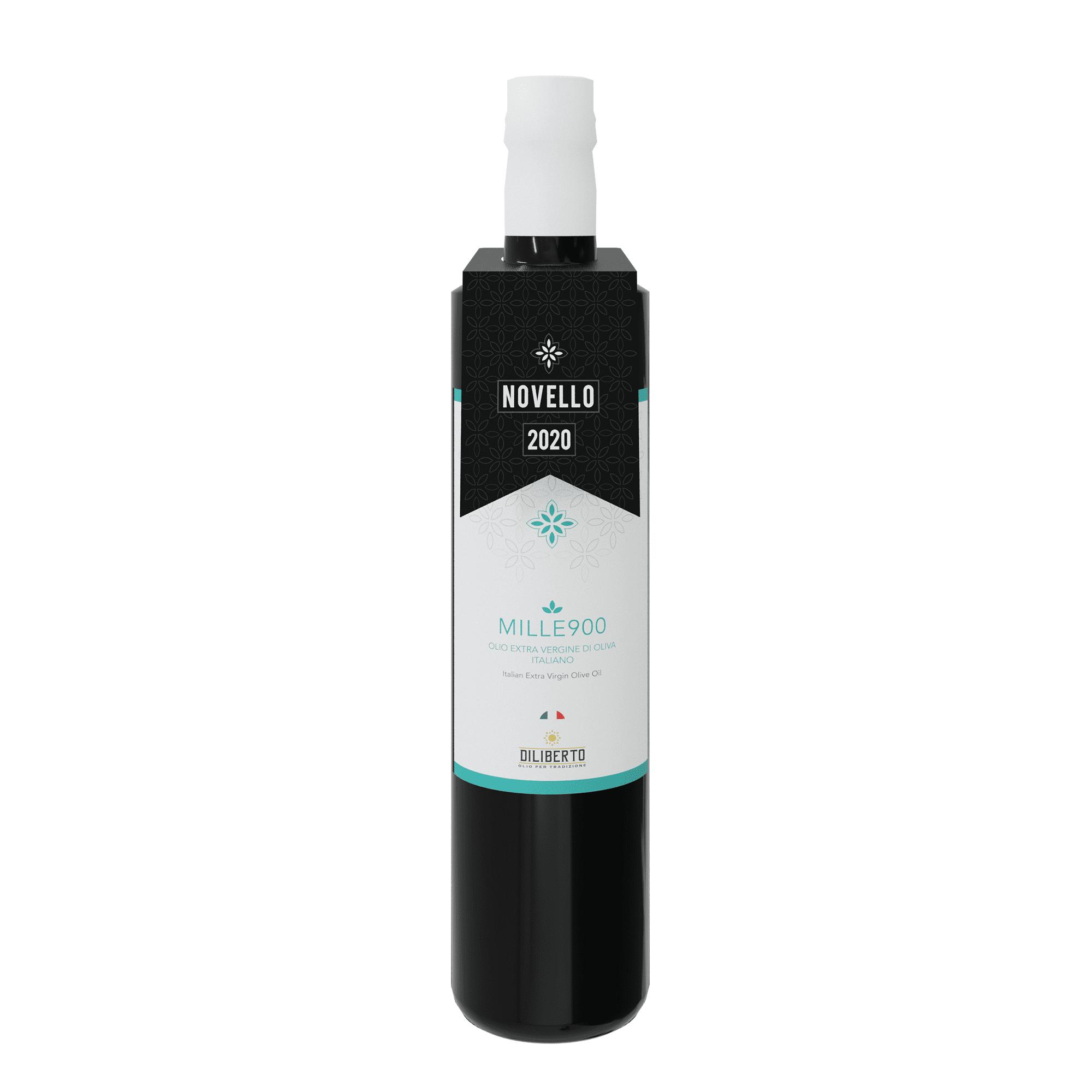 singola bottiglia di olio novello 2020 2021